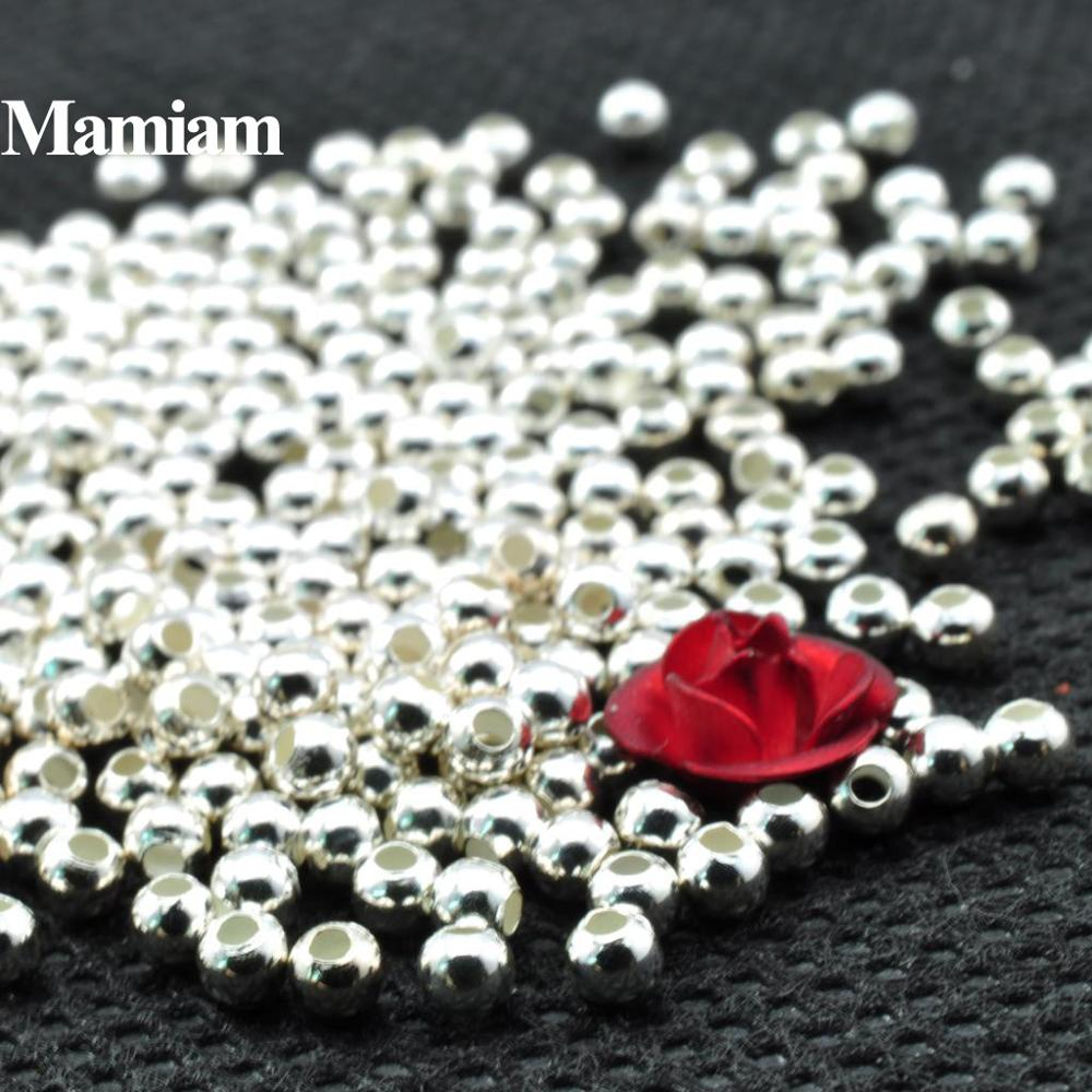 AliExpress - Mamiam 100% S925 Sterling Silver Smooth Loose Round Beads 2-6mm Diy Bracelet Necklace Jewelry Making Charm Accessories Design