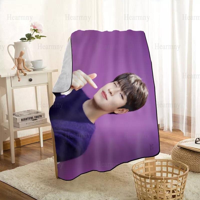 Seungmin-بطانية أطفال ثلاثية الأبعاد ، قابلة للتخصيص ، للأريكة ، السرير ، السيارة ، المنسوجات المنزلية