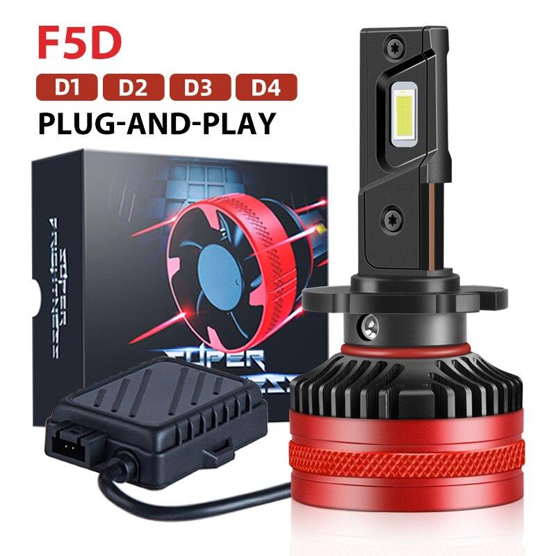 داوننايت F5D D3S Led مصباح D1S D2S D2R D4S D4R التوصيل والتشغيل Led السيارات Led المصباح عالية الطاقة 70 واط 20000LM Led لمبة ل HID