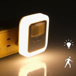 Led Night Light Wireless Sensor Motion Sensor Light Bedroom Decor Lamp Mini Square Night Lights Baby Room Bedroom Corridor Lamp