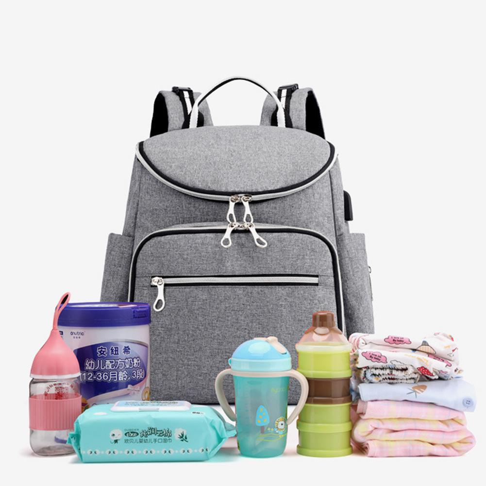 Модный вместительный рюкзак для мамы, рюкзак для мамы, портативный дорожный рюкзак для мамы, уход за ребенком с USB