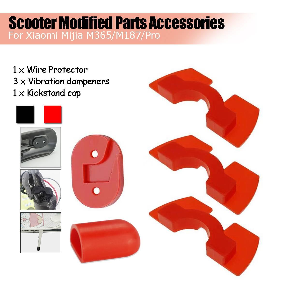 Cubierta protectora de cable de luz trasera, antivibración, para patinete eléctrico Xiaomi Mijia M365M187 Pro, accesorios de piezas modificadas