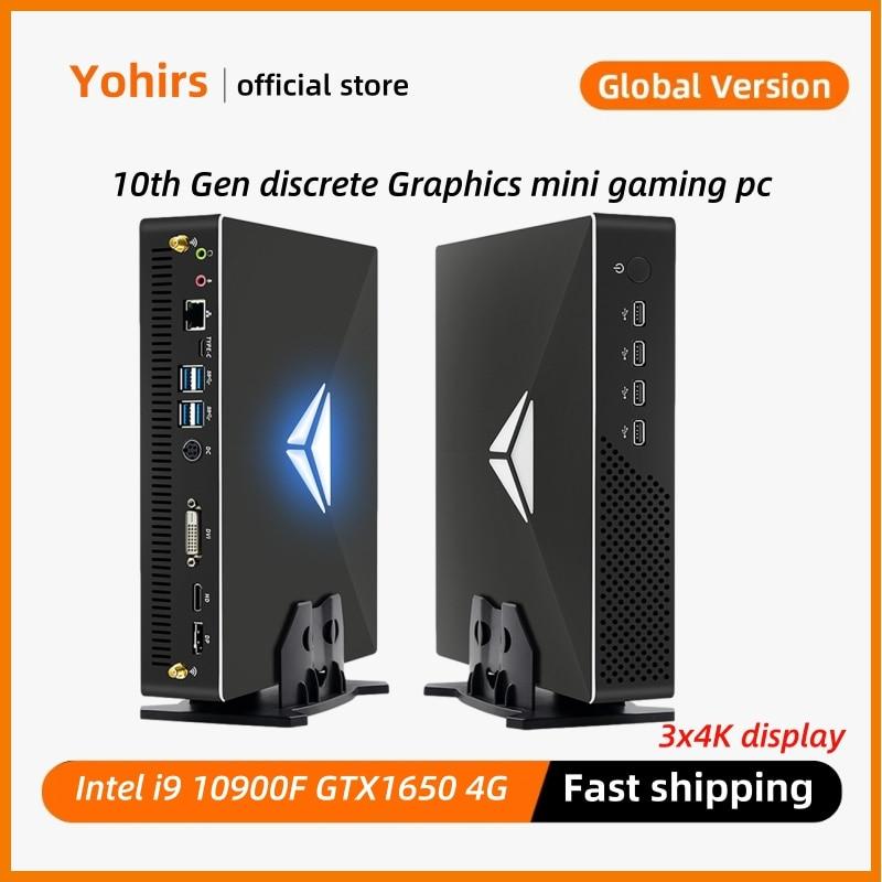 Mini Desktop Game Pc Intel Core i5 10400F i3 10100F GTX 1050Ti DDR4 Up to 64GB M.2SSD Windows10 Pro 3D HTPC 4K Display Computer