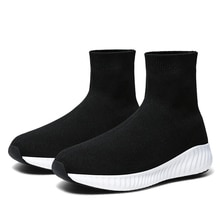 Men Sports Running Shoes Unisex Casual Shoes High-Top Breathable Comfortable Lightweight Flying Sock