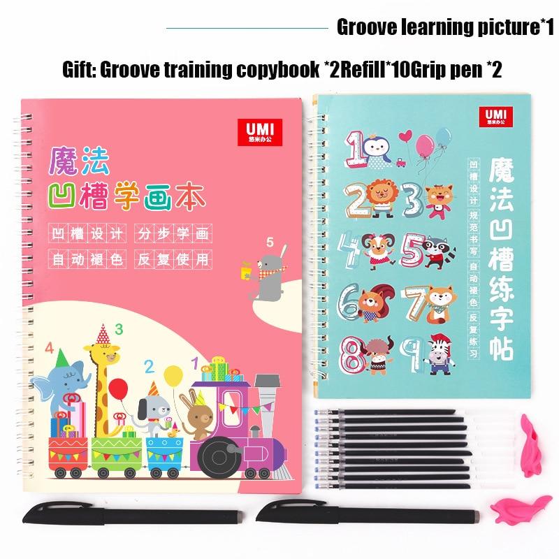 Children's Drawing Coloring Book For Kids Beginner Groove Animal/vegetable/plant Cartoon Groove Beginer Practice Copybook Libros