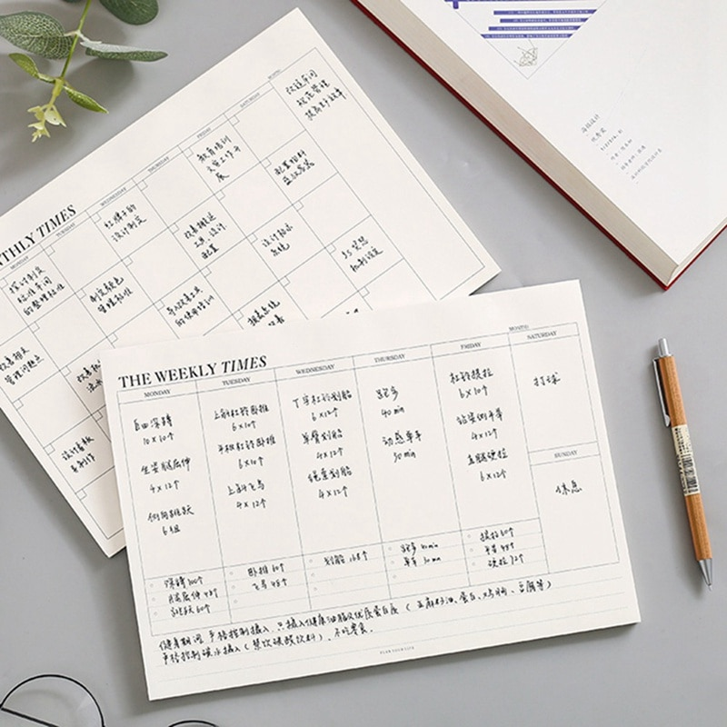 AliExpress - Planner Notebook Office Supplies School Stationery Monthly Weekly Planner 60 Inner Pages Day Planner Book Stationery