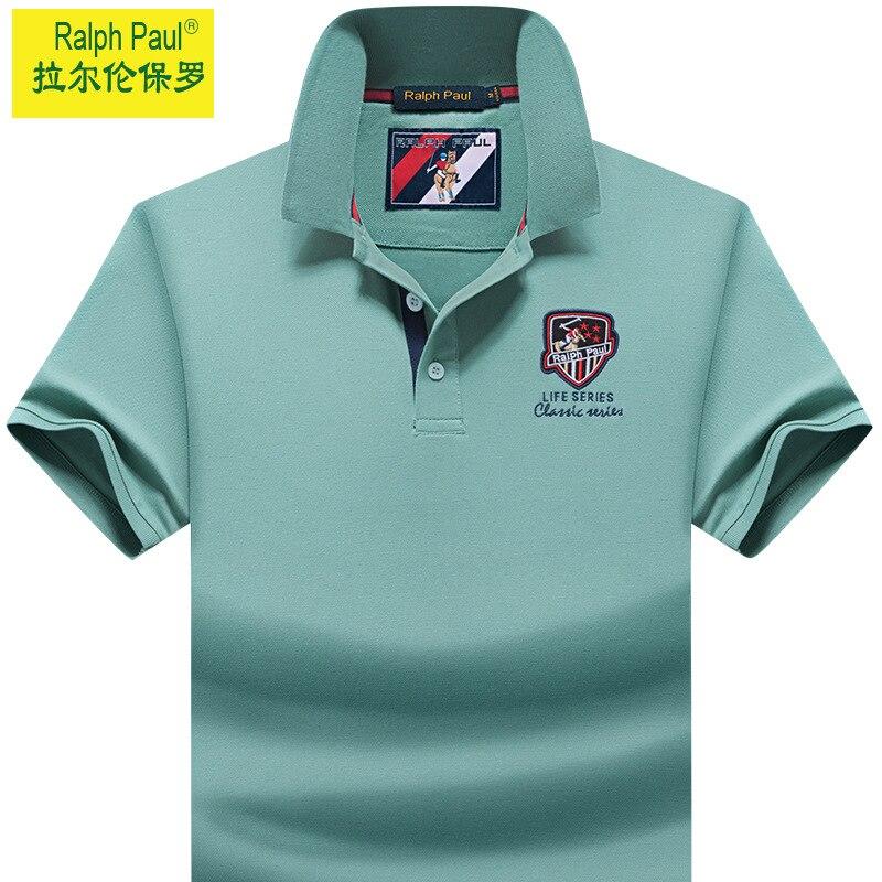 Summer Short-Sleeved Polo Shirt Men's Summer Lapels T-shirt Half-Sleeved Youth Undershirt T-shirt Fashion