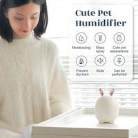 Mini humidificateur dair Portable en forme de lapin  modele 2021  appareil de brume ultrasonique  diffuseur dhuiles essentielles pour le bureau et la maison