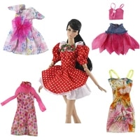 fashion 5 piecesset dress for barbie clothes tutu mini dresses doll accessories for barbie kids toys for girl birthday gift