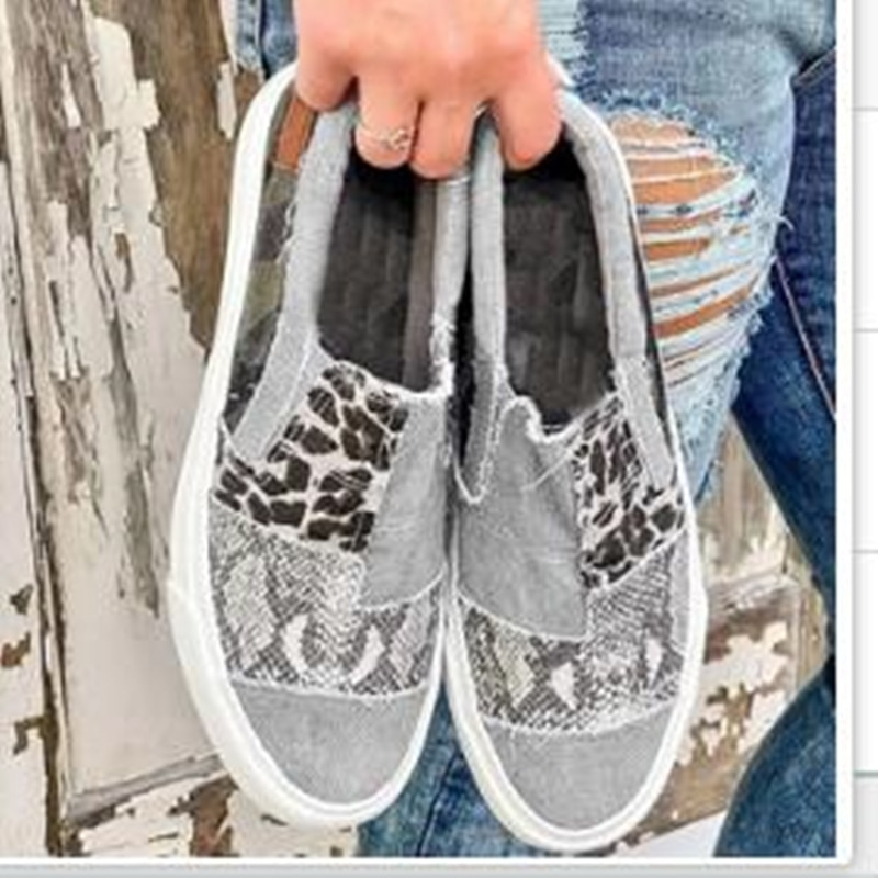 Women's shoes new flat bottom lazy shoes fashion casual single shoes personality canvas shoes trend comfortable hot sale Casual