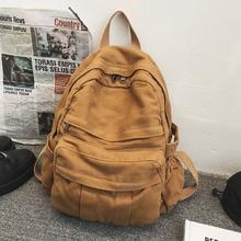Backpack Female Multi-pocket  Student Bag New Trendy Retro Canvas Bags  School Bags For Teenager Gir