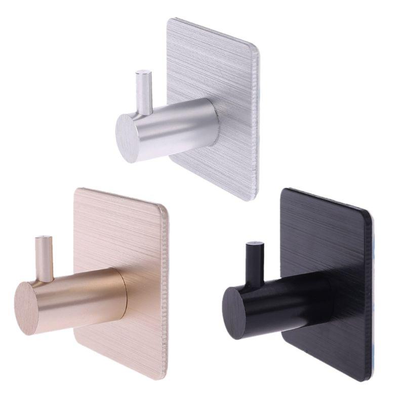 4 piezas ganchos autoadhesivos hogar cocina pared gancho ropa bolsa perchero llave baño toallero estante de almacenamiento aluminio