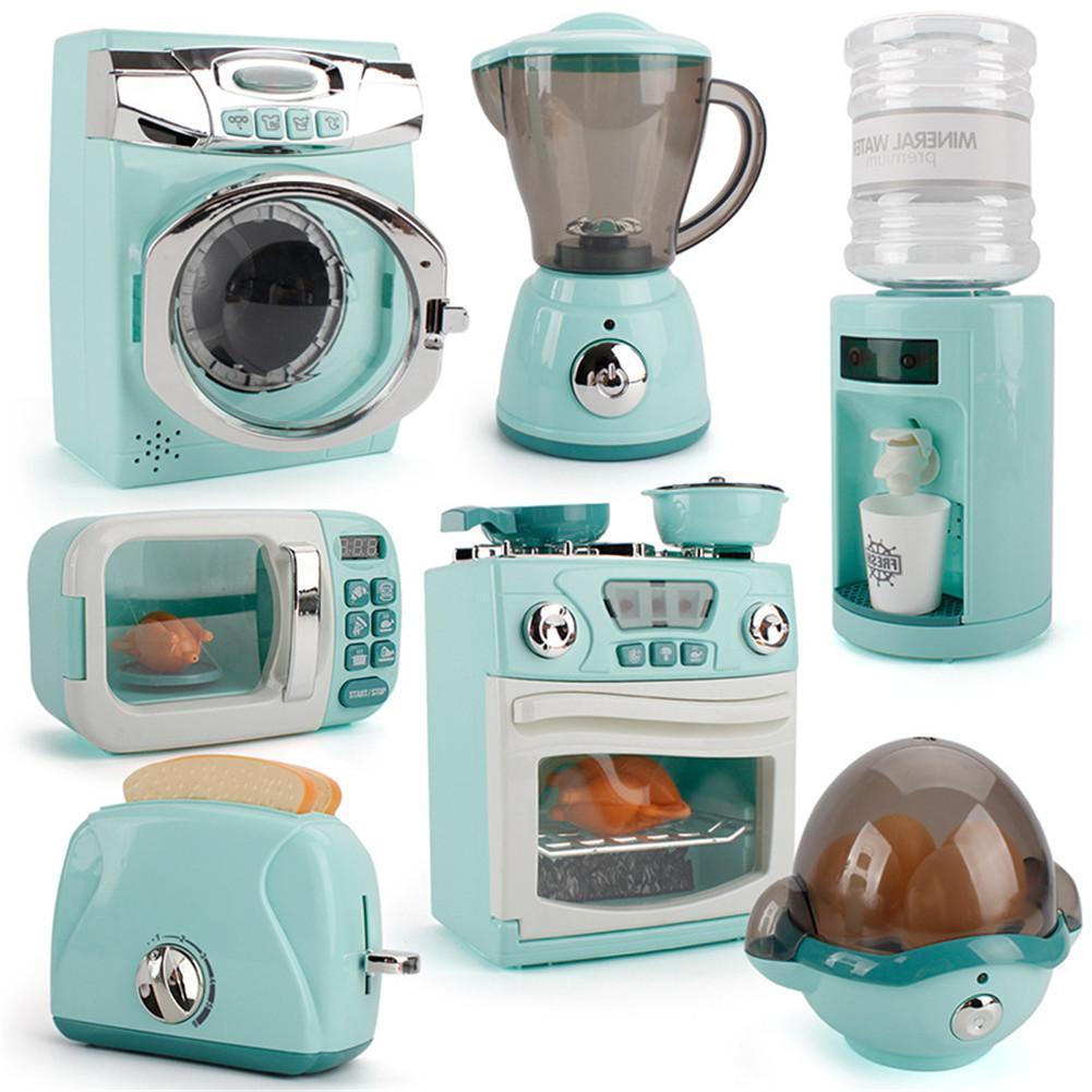 Kid Kitchen Toy Simulation Kitchen Toy Spray Water Dinnerware Pretend Play Toys