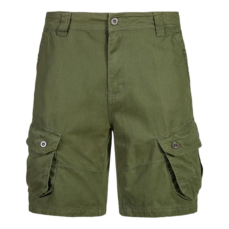 2020 homens shorts de carga multi-bolso verão solto ajuste zíper fechar calças curtas para homem rua wear shorts casuais 5 cores