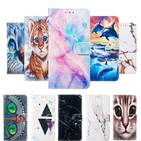 for iphone 12 mini case leather flip cover for iphone 11 pro xs max xr x xs 5 6 6s 7 8 cases magnetic wallet painted phone case