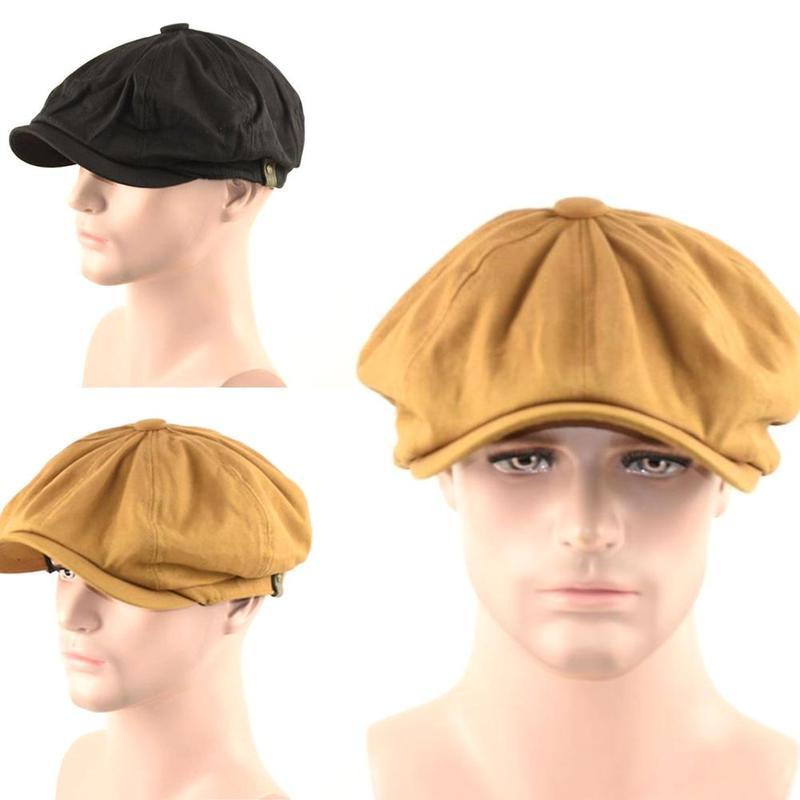 Мужские береты, шапки, хлопковые льняные дышащие шапки, мужские Модные шапки художника в британском стиле, мужские повседневные винтажные