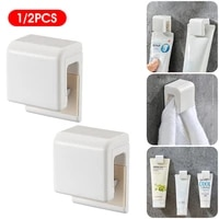 facial cleanser clip wall mount self adhesive organizer home storage kit bathroom accessories toothpaste hanging holder clip