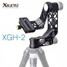 XILETU XGH-2 Pro Heavy Duty Aluminium legierung Gimbal Stativ Kopf Stabilisator Quick Release Platte für Tele Objektiv fotografie vogel