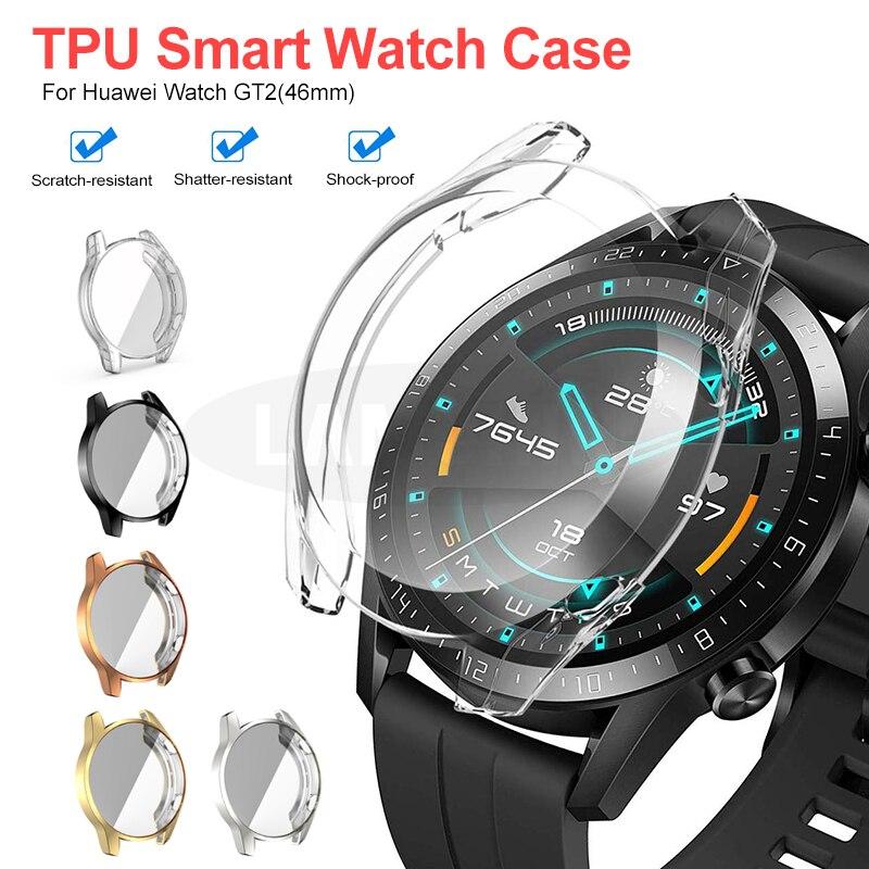 Мягкий защитный чехол для Huawei Watch GT2 46 мм чехол ТПУ бампер для часов GT 2 46 мм Рамка для Huawei GT 2 умные аксессуары для часов