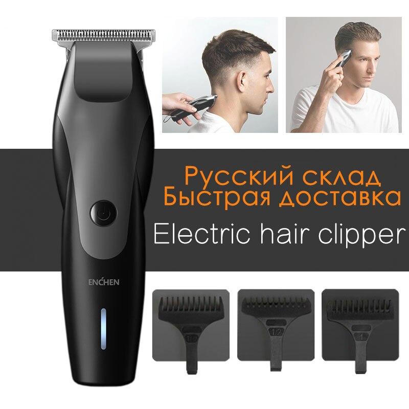 ENCHEN-ماكينة قص الشعر اللاسلكية الاحترافية ، ماكينة قص الشعر اللاسلكية مع شحن USB ، ماكينة قص الشعر واللحية من xiaomi Youpin 5