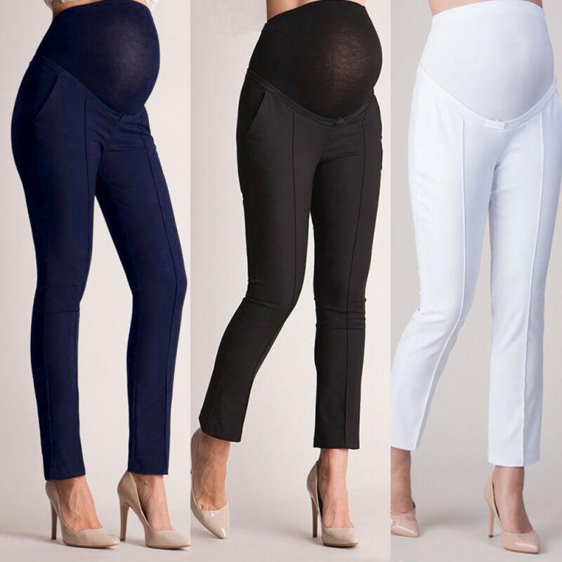 Ropa de maternidad de elevación elástica pantalones de embarazo para mujeres embarazadas pantalones de longitud completa del tobillo