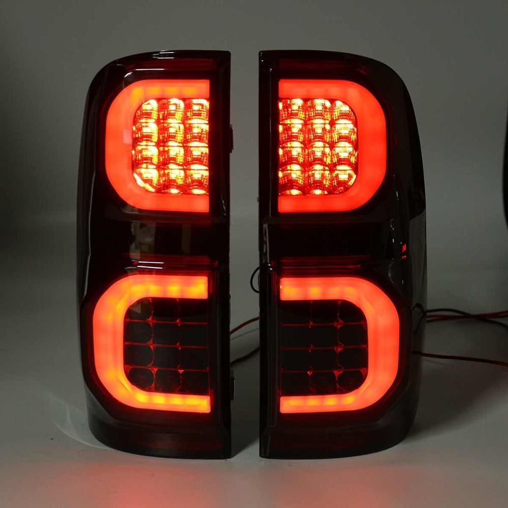 Luz de led para fumo, luz traseira para toyota hilux vigo kun26 sr sr5 workmate 2008 -2012 luz de freio traseiro lâmpada de neblina drl