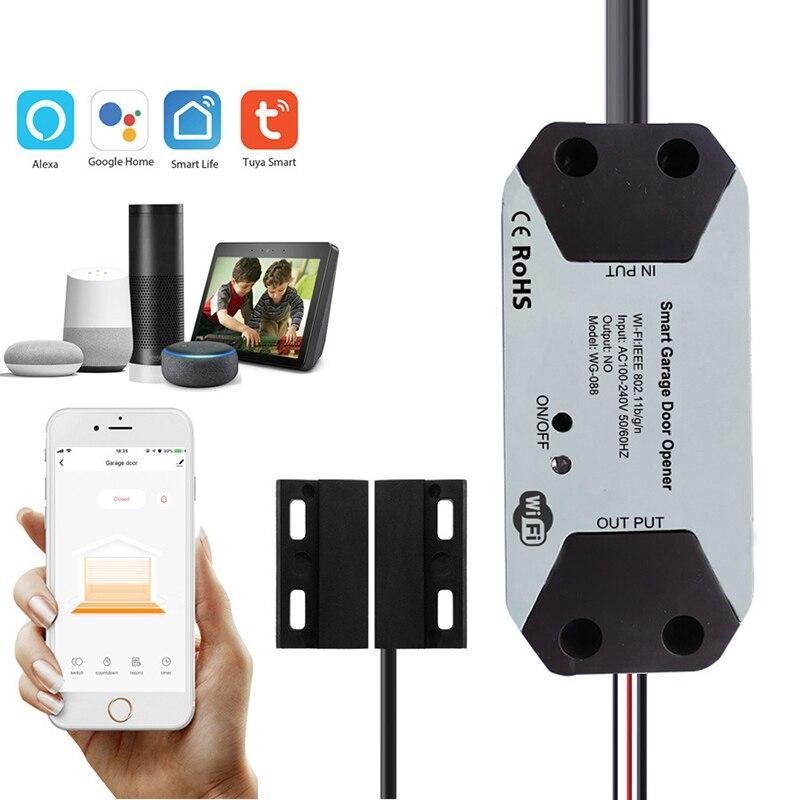 Смарт-Открыватель для гаражных дверей Tuya, Wi-Fi, голосовое управление