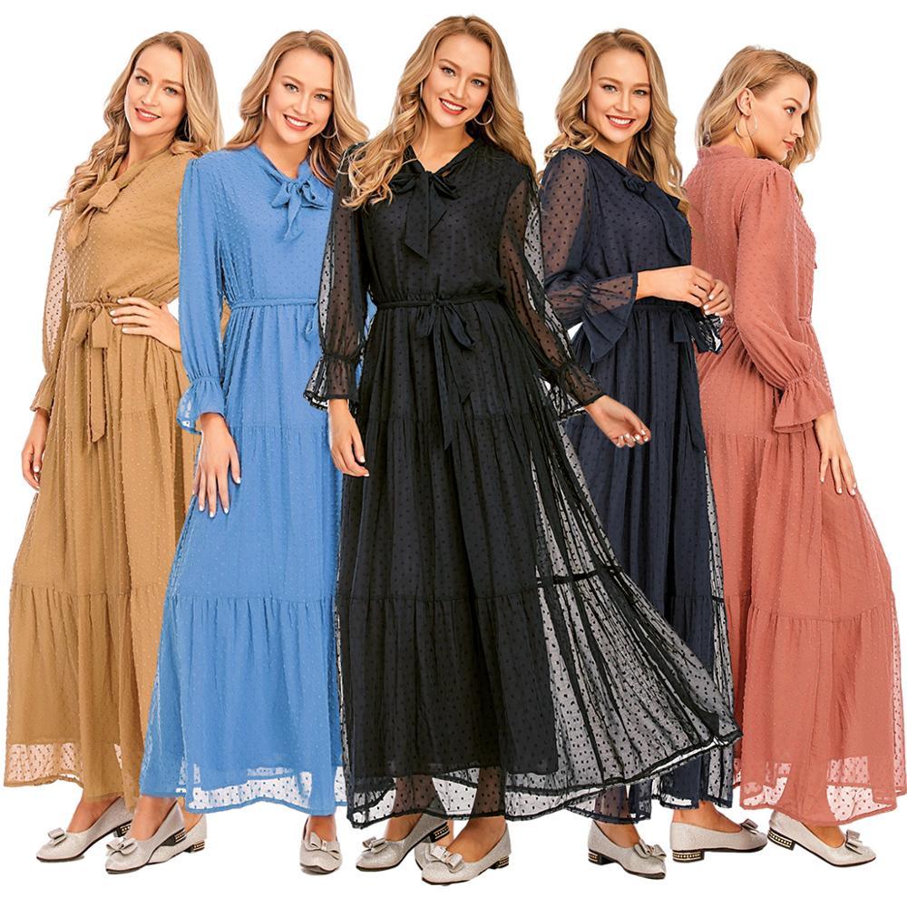 عيد مبارك دبي عباية الحجاب فستان مسلم الهند الأوروبية الأمريكية الملابس الإسلامية تركيا فساتين الأفريقية للنساء Vestidos