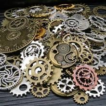 100g Vintage Steampunk Wrist Watch Parts Gears Wheels Steam Punk Lots of Pieces DIY Jewelry Making F