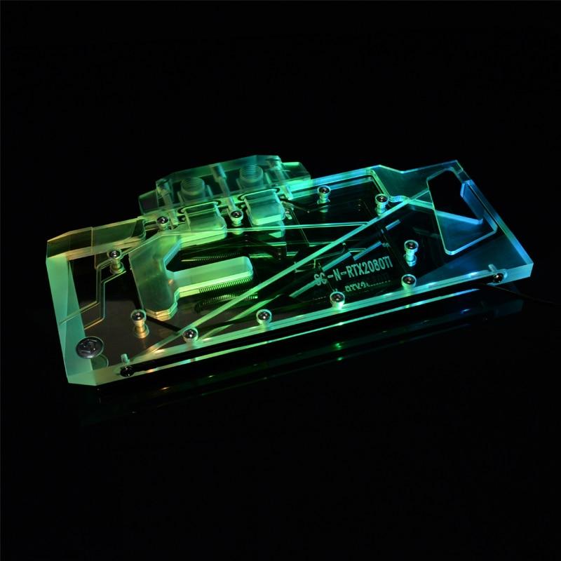Syscooling-كتلة تبريد المياه GPU ، بطاقة الفيديو ، لألعاب RTX 2080 ، ممسحة 8G