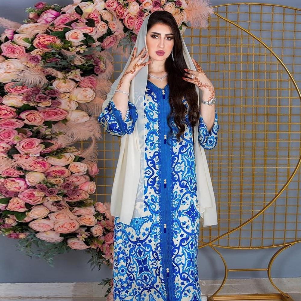رمضان فيستدوس عباية دبي تركيا الحجاب فستان مسلم ملابس الإسلام فساتين إفريقية عبايات للنساء رداء عيد مبارك