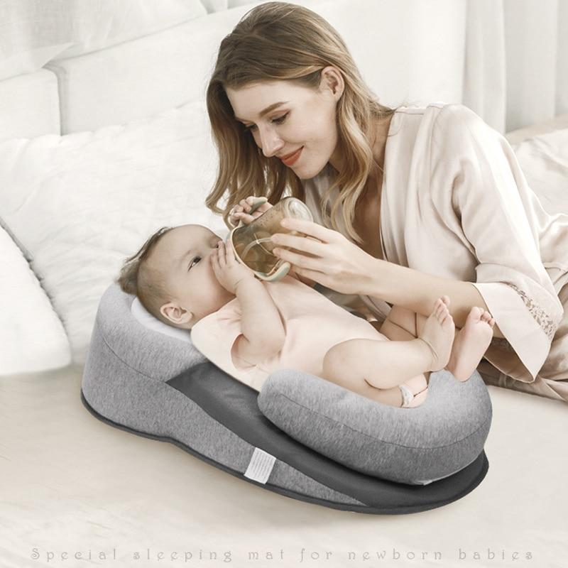 Baby Pillow Newborn Sleeping Support Pillow Concave Soft Cartoon Toddler Cushion Prevent Flat Head Baby Pillows Reflux Bed
