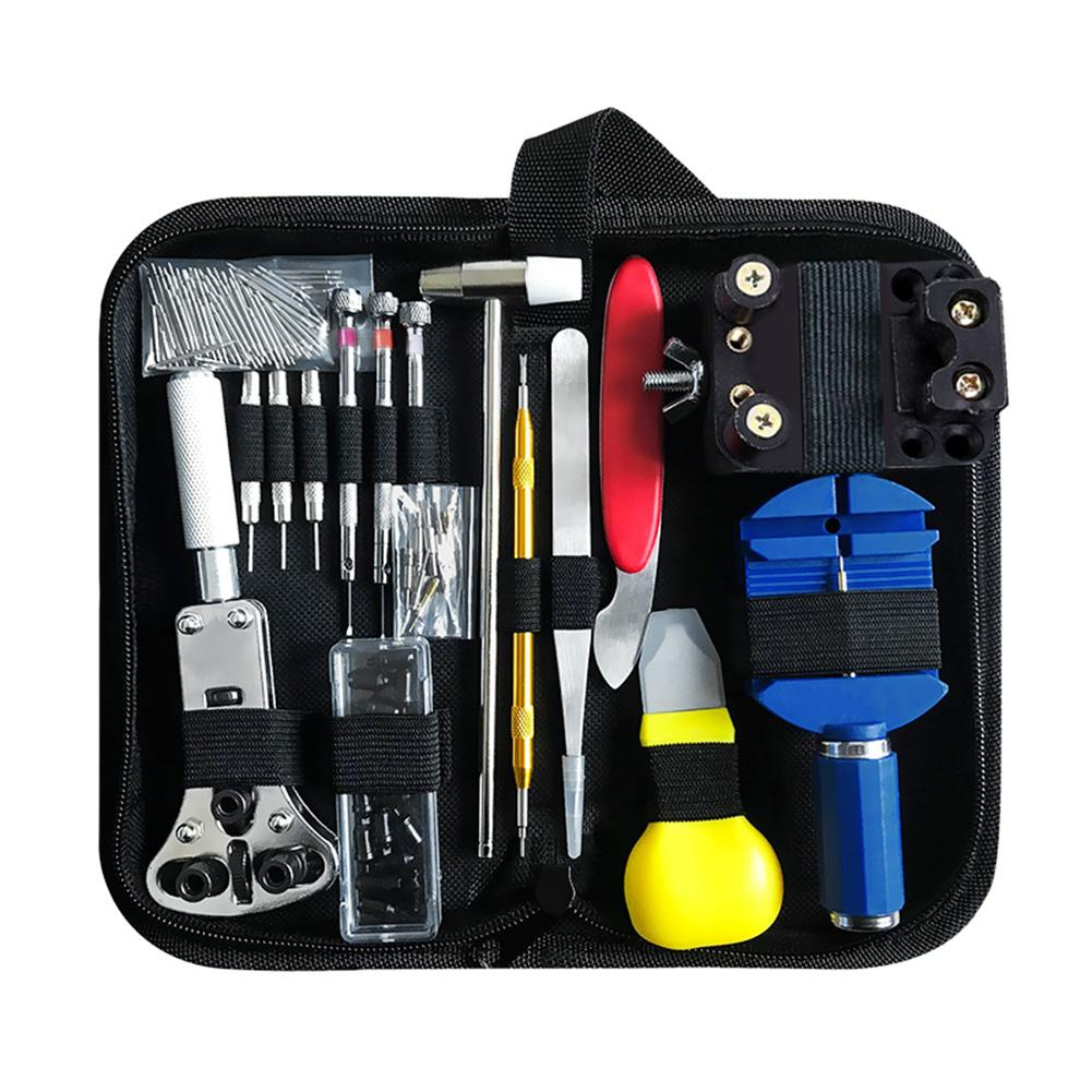 147pcs/set Repair Tools Watch Band Bracelet Remover Case Opener Back Remover Watchmaker Repair Kits with Hoist Cover Pry watch bezel inserts watch tools watch back watchmaker press repair tools kit watches case crystal glass press tools set