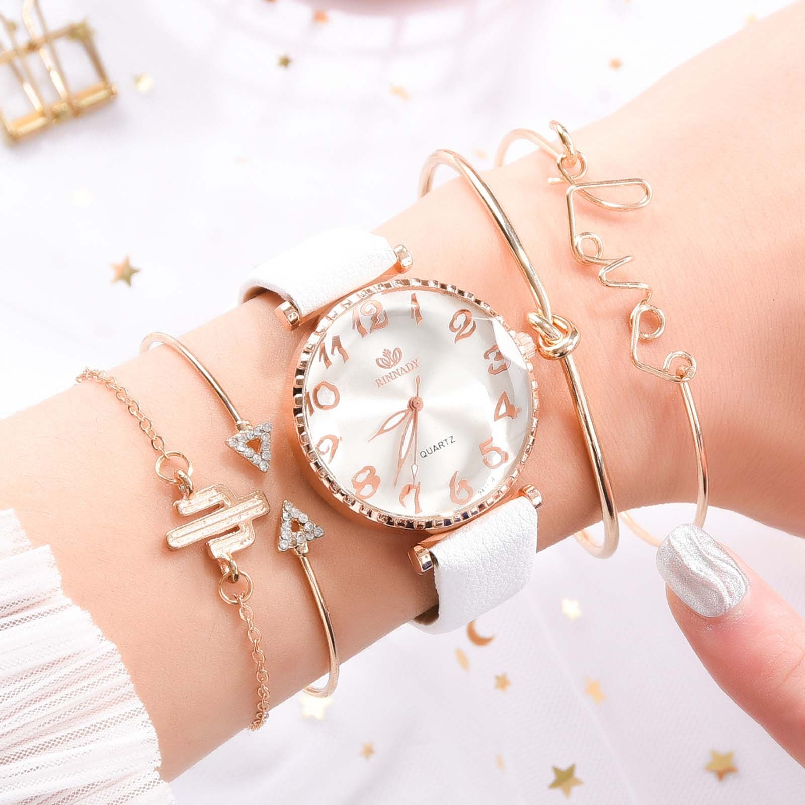 Luxury Style Fashion Women's Watch Luxury Leather Band Analog Quartz WristWatch Ladies quartz watche