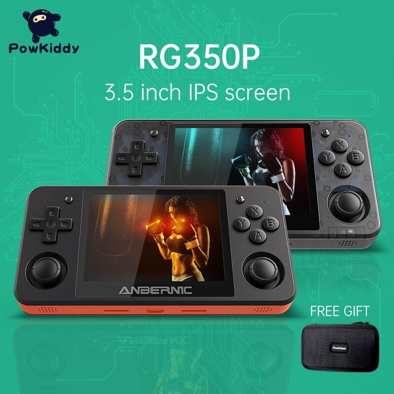 Powkiddy-وحدة تحكم ألعاب محمولة RG350P ، وحدة تحكم بلاستيكية ثلاثية الأبعاد ، مصدر مفتوح ، Systeem 3.5 بوصة Ips Scherm Retro Ps1 Arcad