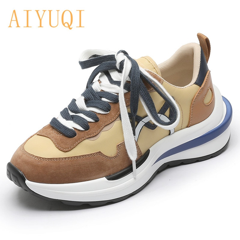 AIYUQI Sneakers Women Autumn 2021 New Thick-soled Fashion Women Shoes Color Matching Student Running