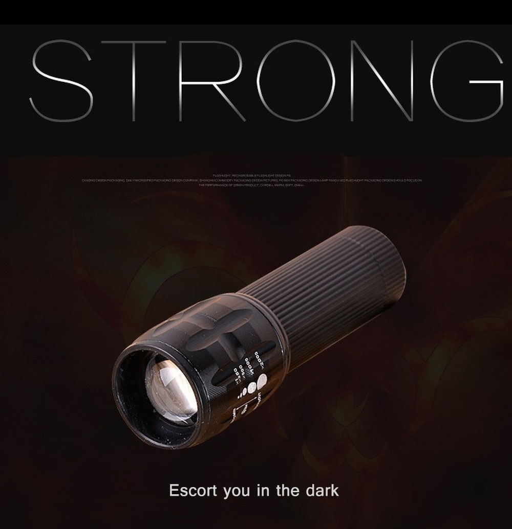 Linterna Led de alta potencia, minilinterna reflectante, portátil, retráctil, con zoom, linterna de Camping, luz Flash para bicicleta, linterna