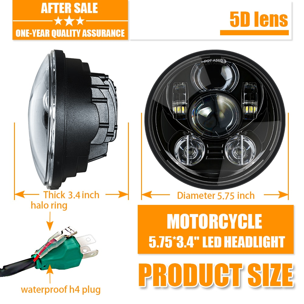5-3/4 5,75 faro LED de Motor para Harley Dyna Softail, tren nocturno 2009, Sportster Iron 883, varilla nocturna especial VRSCDX