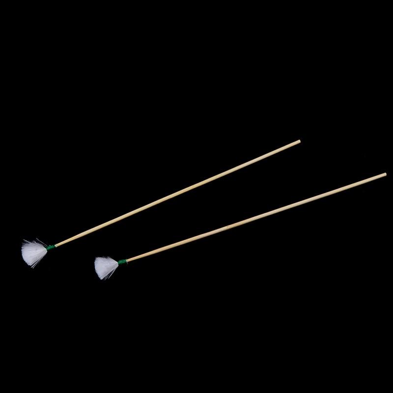 2 unids/set herramienta de cuidado de oído limpiador Stick pluma de ganso orejera mango de bambú adulto herramientas de cavar cuchara