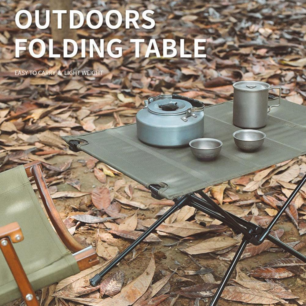 60*39*39cm Portable Folding Camp Table Outdoor Camping Camping Tactical Aluminum Table Gear Card Table Picnic Table Alloy S7F2