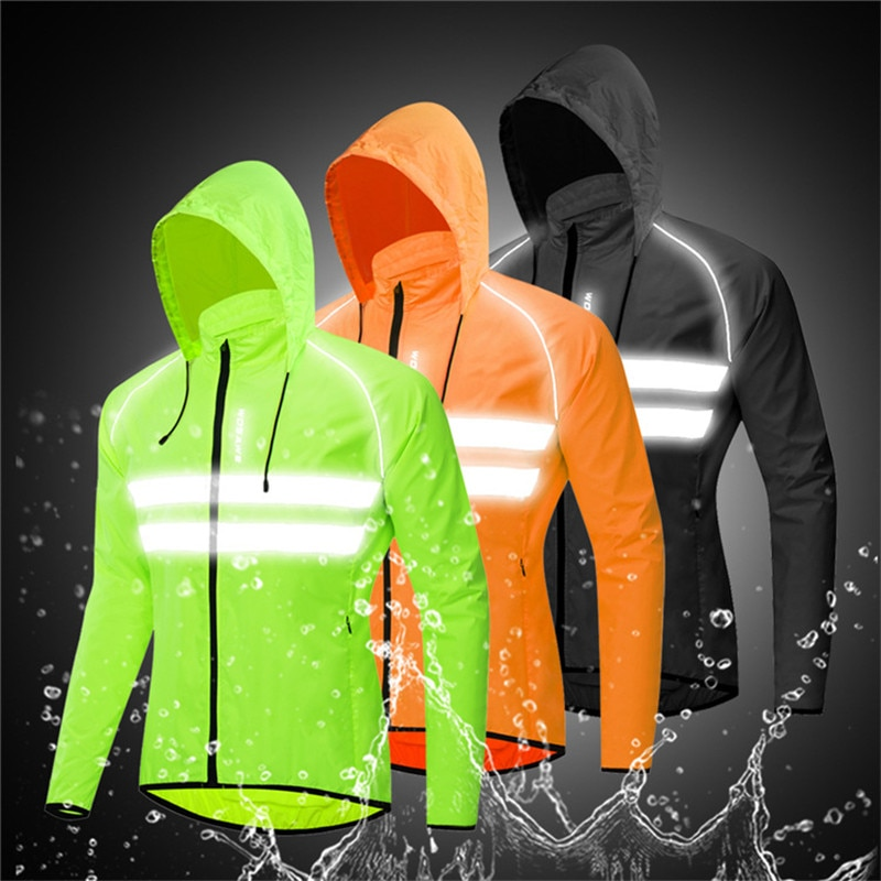 WOSAWE Windproof Cycling Motorcycle Jackets Hooded Men Riding Waterproof Bike Long Sleeve Jerseys Reflective Vest Wind Coats enlarge