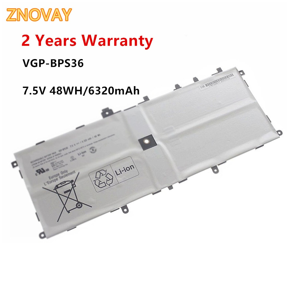 ZNOVAY VGP-BPS36 Laptop Battery For Sony for Vaio Duo 13 Convertible Touch 13.3