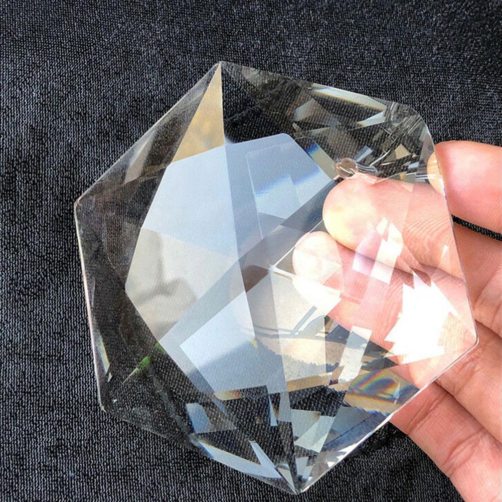 Arte facetado de cristal judaísmo araña de cristal colgante hexagrama grande 100mm ornamento artesanal colgante de prismas