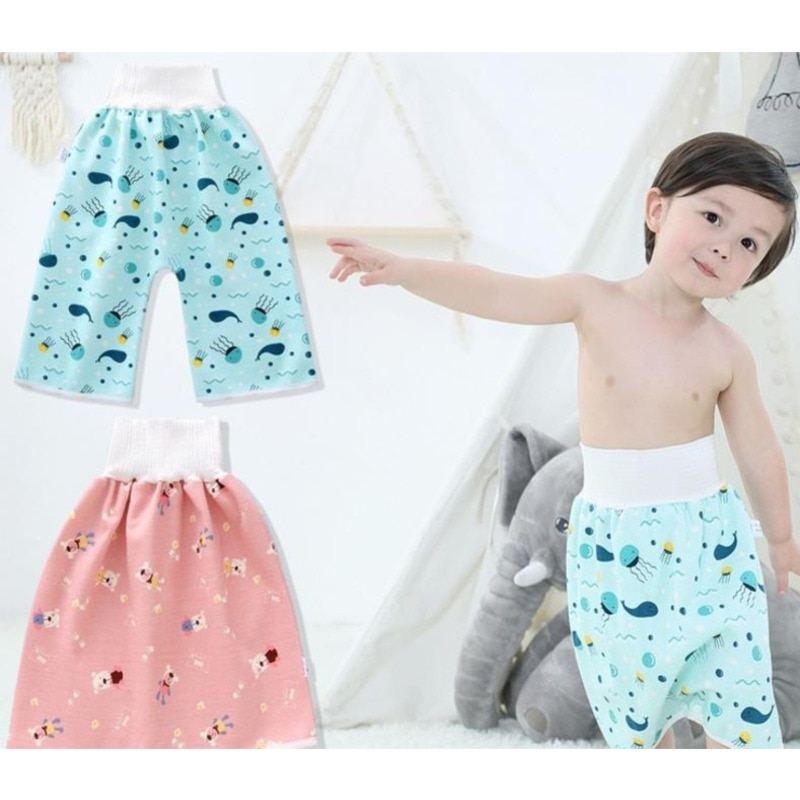 Comfy Reusable Baby Adult Diaper Skirt Shorts 2 In 1 Boy Girl Pants Absorbent Shorts Prevent Skirt Moment Leakage Mat Cover Gift