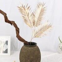 Palmier dore artificiel a 3 fourchettes  95CM  feuille de palmier dore artificiel  materiel darrangement floral  paysage dinterieur  hotel  mariage  boutique  maison  plantes decoratives