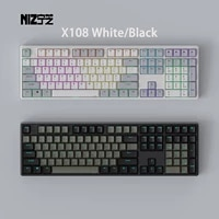 niz x108 white or black electro capacitive ec keyboard suitable for office and playing games