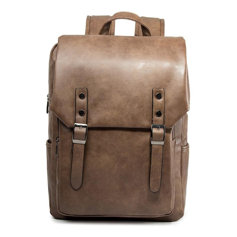 Винтажные кожаные рюкзаки Weysfor для ноутбука, Дорожные Сумки из искусственной кожи, повседневные школьные ранцы, кожаные рюкзаки в стиле рет...