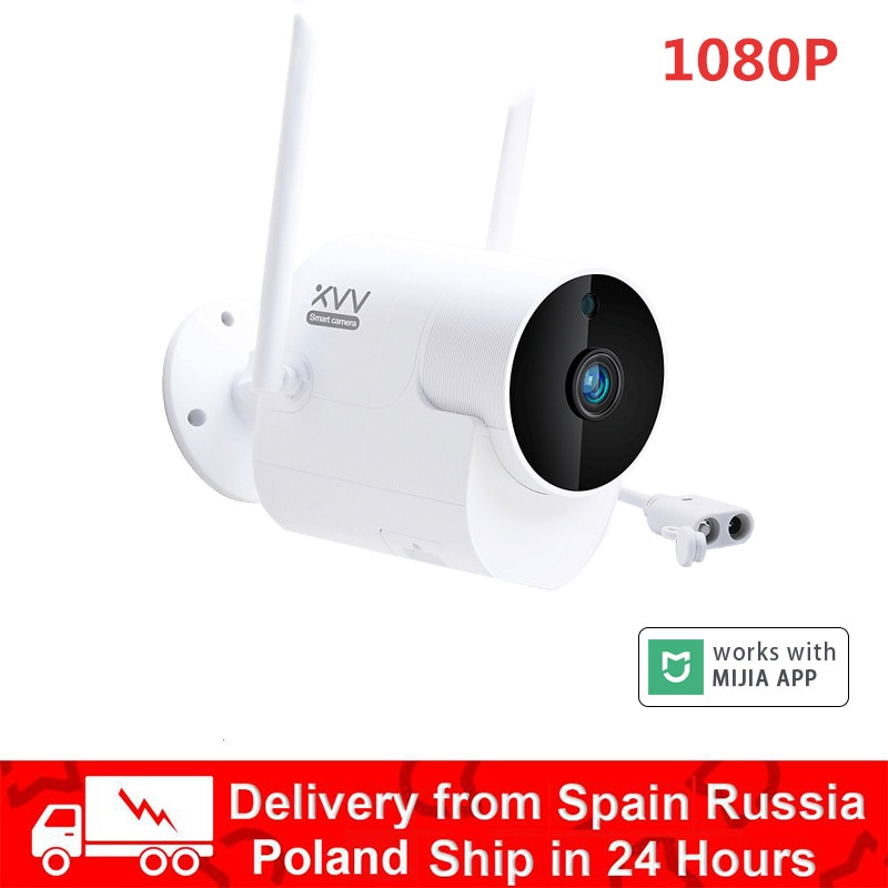 1080P في الهواء الطلق كاميرا مراقبة بانورامية مع واي فاي مصباح ليد عالية الوضوح للرؤية الليلية كاميرا منزلية ذكية لتطبيق Mijia