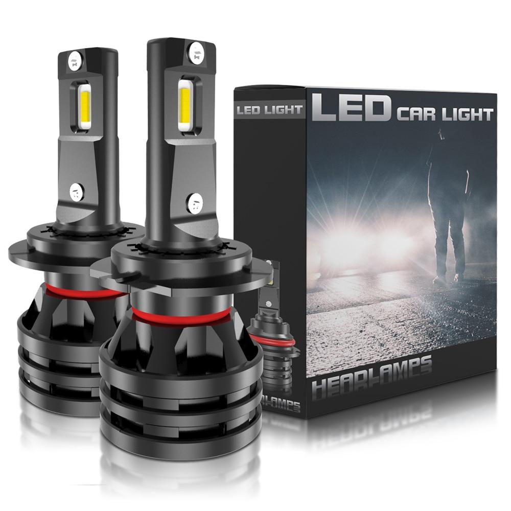 2x h7 led h4 9007 h1 h3 lâmpada led farol do carro 12 v auto farol para ford focus 2 3 fiesta fusion ranger kuga mondeo mk4 mustang