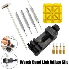 11Pcs/set Watch Link For Band Slit Strap Bracelet Chain Pin Remover Adjuster Repair Tool Kit For Men